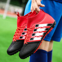 Men's boys Soccer Cleats Shoes High Top Football Shoes Sock Shoes Athletic