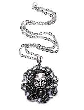 Kolovrat Sun God Warrior Pendant Large Slavic War God Chain Necklace Jewellery