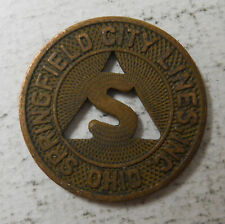 Springfield City Lines (Ohio) transit token - Oh830F