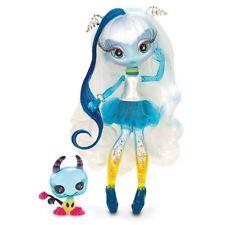 Novi Stars Glitter Filled UNA VERSE Alien DOLL Glow in Dark Stand toys