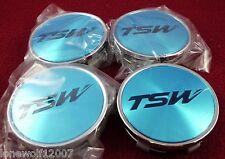 TSW Wheels Chrome Custom Wheel Center Caps Set of 4 # C-F82 - NEW