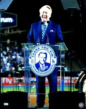 Vin Scully Signed Autographed 16X20 Photo Thank You, Vin LA Dodgers /30 MLB COA