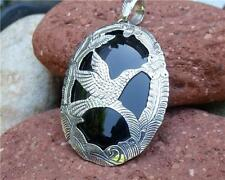 BALINESE 925 SILVER BLACK ONYX PENDANT SILVERANDSOUL HANDCRAFTED JEWELLERY