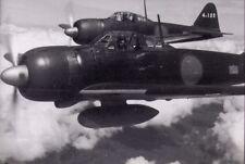 WW2 WWII Photo Japanese Zero Fighters in Flight World War Two Japan / 6168