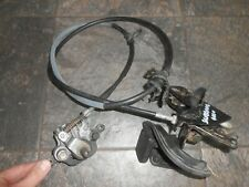 honda silverwing fjs600 fjs rear brake caliper cable line  brake lever working