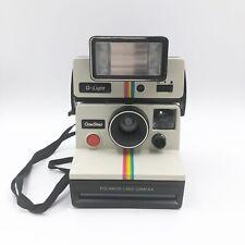 Vintage Polaroid SX-70 One Step Land Camera Instant Film Rainbow White + Q-Light