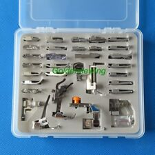 Plastic Box 32 PCS Presser-Foot for JANOME NEWHOME 106 108 109 1506 1510 155
