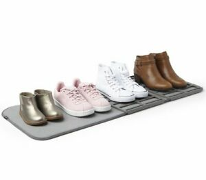 Umbra SHOE DRY Shoes Drying Rack and Mat 2-in-1 CHARCOAL Grey