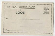 Vintage Six View Letter Card of Looe, Cornwall (unused)