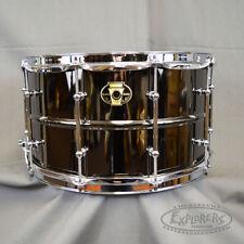 Ludwig Black Magic 8 x 14 Black Nickel Over Brass Snare Drum w Chrome Hardware