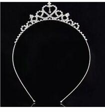 Tout simplement magnifique Finest Petit Enfant Coeur Plaqué Argent Cristal Tiara.