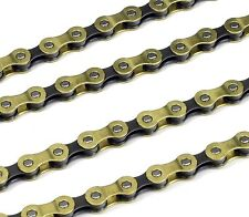 9 SPEED CYCLE CHAIN 114 LINK GOLD - BIKE BICYCLE FITS SHIMANO CAMPAGNOLO