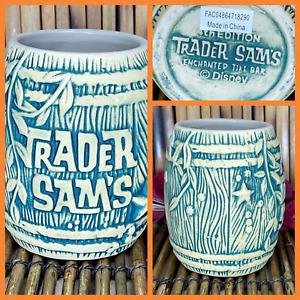 Trader Sam's Enchanted Tiki Bar Shipwreck On The Rocks Barrel Mug 4th + Swizzle