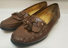 Stanley Blacker Mens Italy Brown Leather Tassel Slip On  Loafers Shoes Sz.10.5 M
