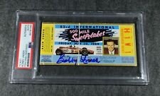 Rare BOBBY UNSER Signed 1969 Indianapolis 500 Race Ticket-PSA Encapsulated