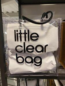 """BLOOMINGDALE'S Little Brown """"Clear"""" Bag Bloomie's Vinyl Plastic"""