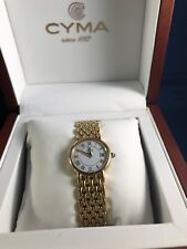 CYMA Ladie's 18K Gold Plated 28 mm Watch