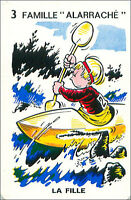 Canoeing Canoe Kayak SPORT PLAYING CARD CARTE À JOUER HUMOR HUMOUR 60s