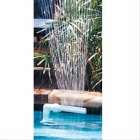 swimming pool waterfall fountain ground above cascade pool water feature spray
