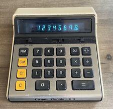 Vintage Canon Calculator Canola L813 LED Display Works