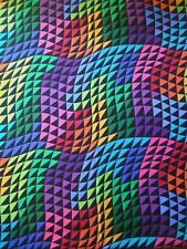 "Colorworks Concepts Rainbow Triangle Wave Northcott Fabric 20"" Remnant"