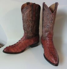 Mint Exotic Cowboy Pro Gator Tail Alligator Leather Mexico Western Boots 12.5D