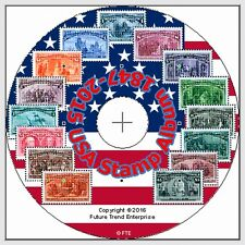 USA Stamp Album Pages on CD 1847-2016 - FREE Postage