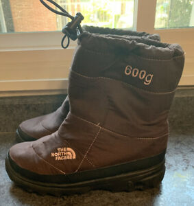 Girls The North Face Filles 600g Winter Boots Size 6 Snow Waterproof Brown
