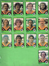 #D410.  1982  BALMAIN TIGERS SCANLENS RUGBY LEAGUE CARDS