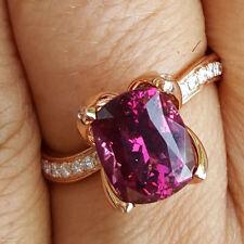 Rhodolith Brillant Ring 3.5 ct 0.31 ct RASPBERRY FARBE 750er Gold SW 3745.-Euro