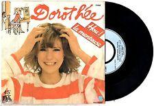 45 tours DISQUE VINYLE ¤ DOROTHEE/HOU LA MENTEUSE ¤ DESSIN CABU (charlie-hebdo)