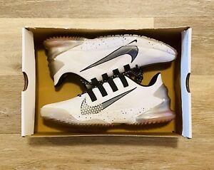 Nike Air Force Zoom Trout 7 Turf White Grey Baseball Shoes CQ7225-103 Men's 10
