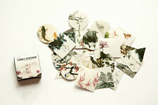 1 box 40 PCS Chinese landscape painting diary stationery Decorative  stickers