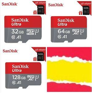 Tarjeta memoria Micro SD SanDisk 32,64,128 Gb con adaptador de regalo, clase 10