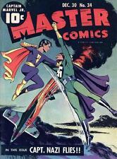 Master Comics #34 Photocopy Comic Book, Captain Marvel Jr., Bulletman