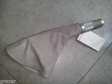Cuffia Copri Leva Freno a Mano +  Impugnatura alluminio pelle sportline Grigio