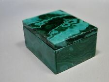 Stone Trinket Box Malachite 1.5 inch Gemstone Jewelry Blessing Ring Box #15