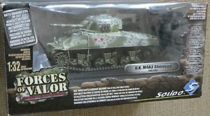 FORCES OF VALOR 1:32; U.K. M4A3 Italy 1943