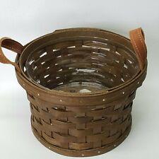 Longaberger 2014, SMALL BUSHEL Basket w/ Protector, Vintage stain, Unused