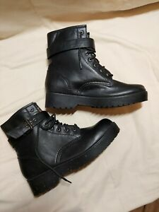 Size 7/41 New Look Ladies Black Combat Boots - High Rise Combat boots