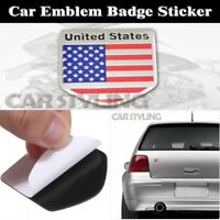 Badge Chrome US American Flag Decals Sticker Car Badge Alloy Metal Emblem