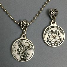 Saint Michael Italian Protection Medal Pendant Police Badge Serve and Protect