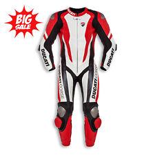 New Motorcycle Ducati Corse K1 Cowhide leather suit CE Armour Motorbike MotoGP