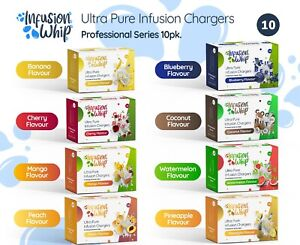 100 Cream Chargers - Variety Pk - 10 Flavours - Infusionwhip - FreshWhip - N2O