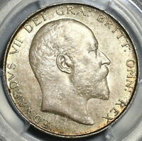 1909 PCGS MS 63 1/2 Crown Edward VII Great Britain Silver Coin (20011102D)