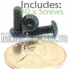 M3 x 8mm - Qty 50 - BUTTON HEAD Socket Cap Screws Alloy Steel 12.9 Black Oxide