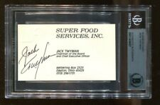 Jack Twyman Signed Business Card Autographed NBA HOF Royals Beckett BAS *8027