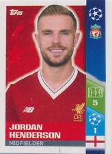 Champions League 17/18 - Sticker 444 - Jordan Henderson - Play-Off Qhalifying Te