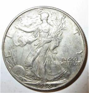 1938 Walking Liberty Silver Half Dollar Good Philadelphia Mint