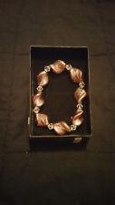 Bronze twist bead bracelet